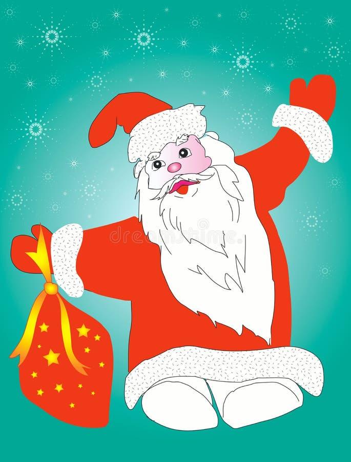 Santa claus przedstawia royalty ilustracja