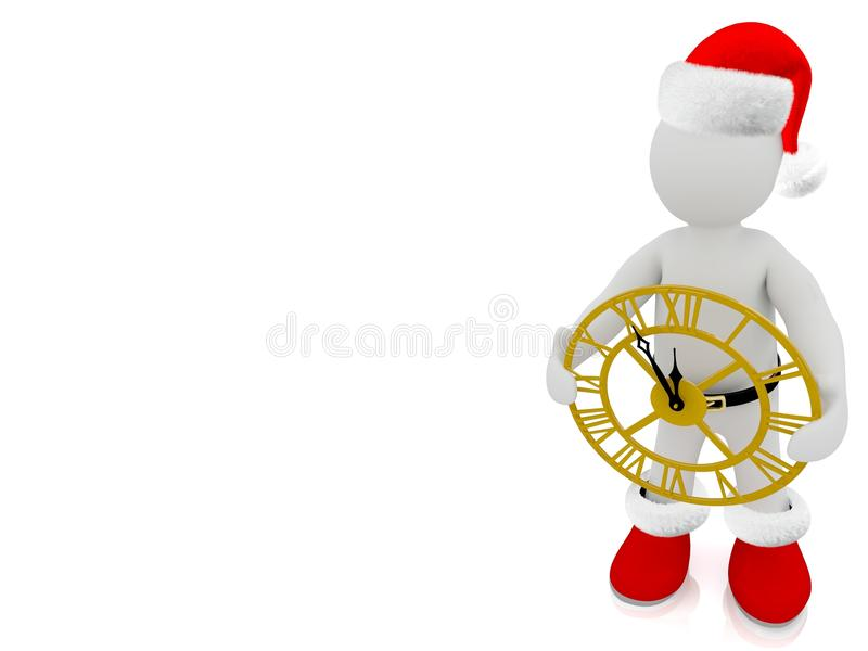 Santa Claus puppet. 3D Santa Claus puppet on white background royalty free illustration