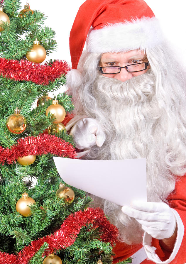 Download Santa Claus read letter stock photo. Image of holiday - 22411232