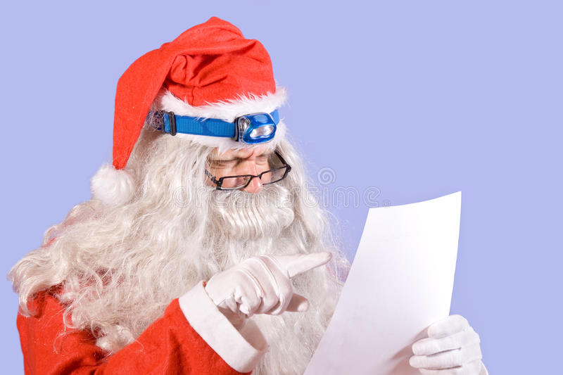Download Santa Claus Reads The Letter Stock Photo - Image: 21489780