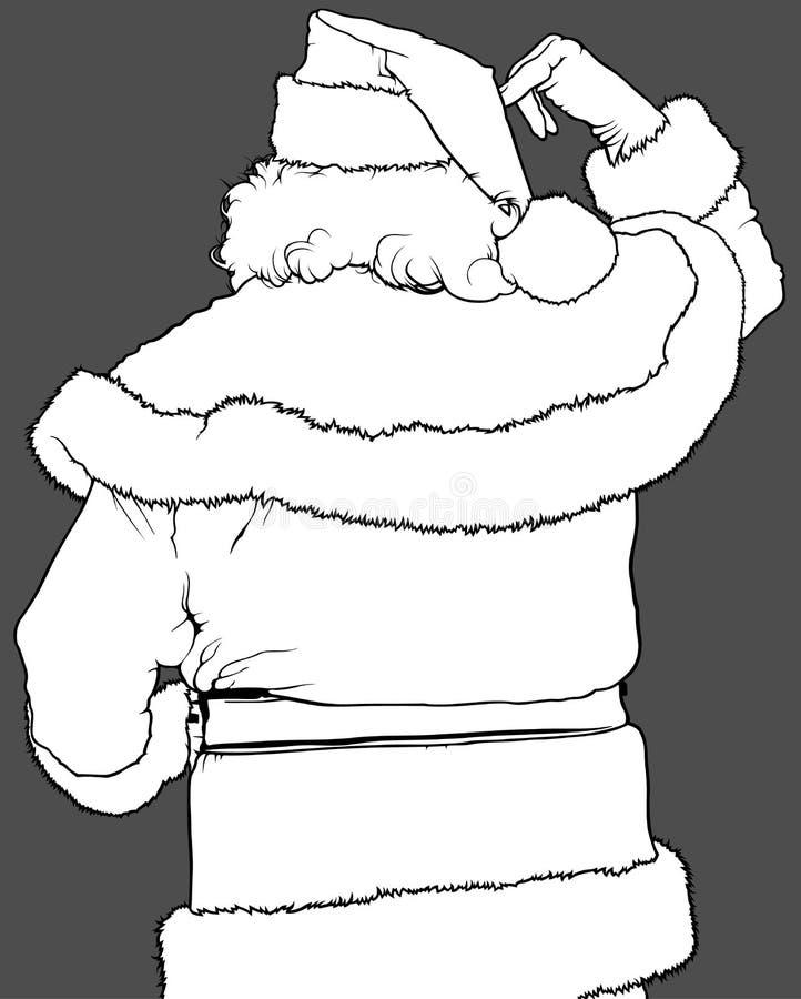 Santa Claus Rear View illustration de vecteur