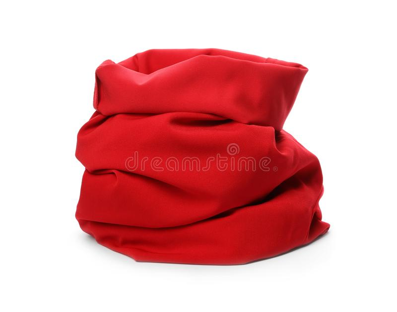 Santa Claus red bag on white. Background royalty free stock photography