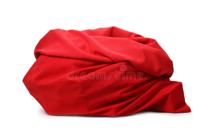 Santa Claus red bag on white. Background stock photos