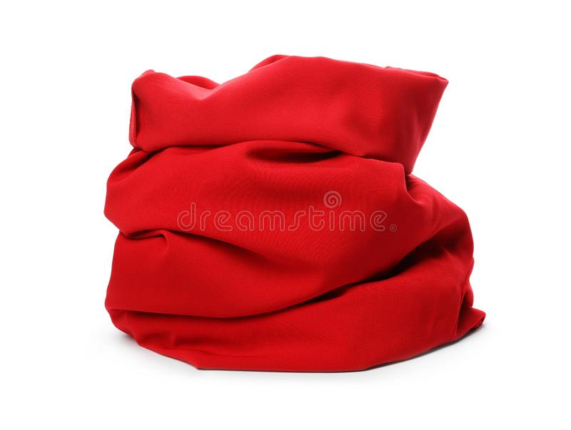 Santa Claus red bag on white. Background stock image