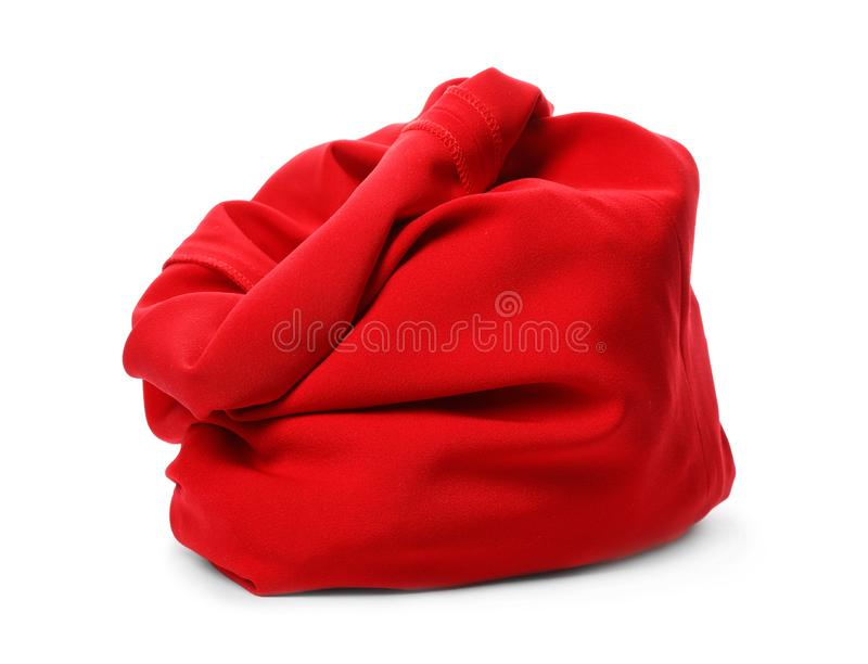 Santa Claus red bag on white. Background royalty free stock images