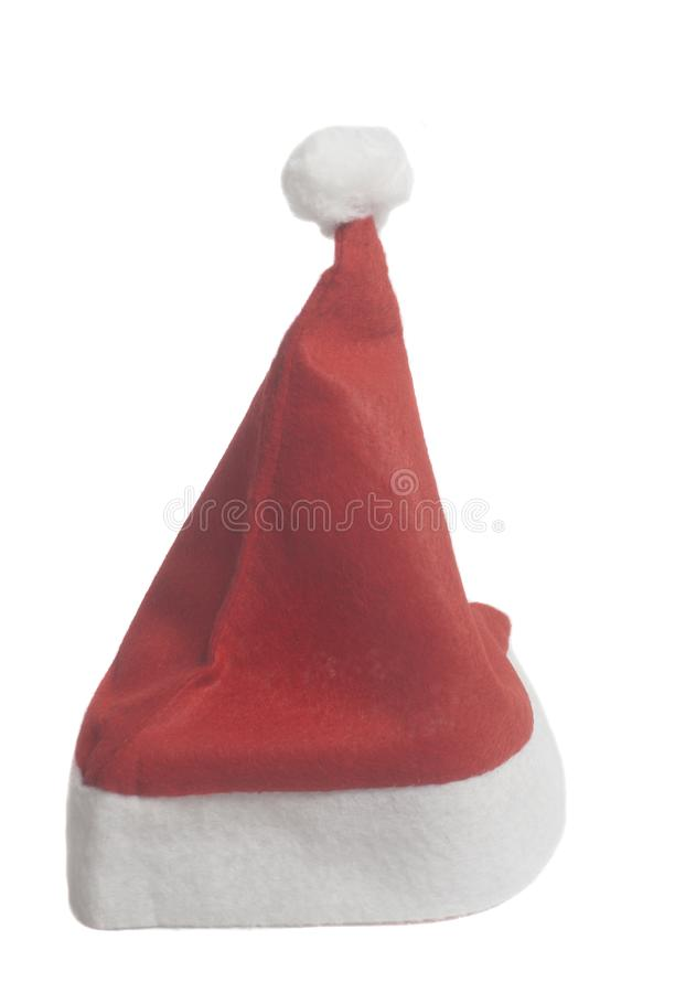 Santa claus red christmas hat royalty free stock photo
