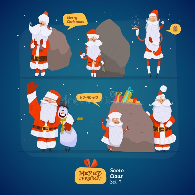 Santa Claus-reeks royalty-vrije illustratie