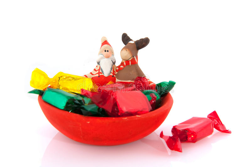 Download Santa Claus and reindeer stock image. Image of sweets - 10563677