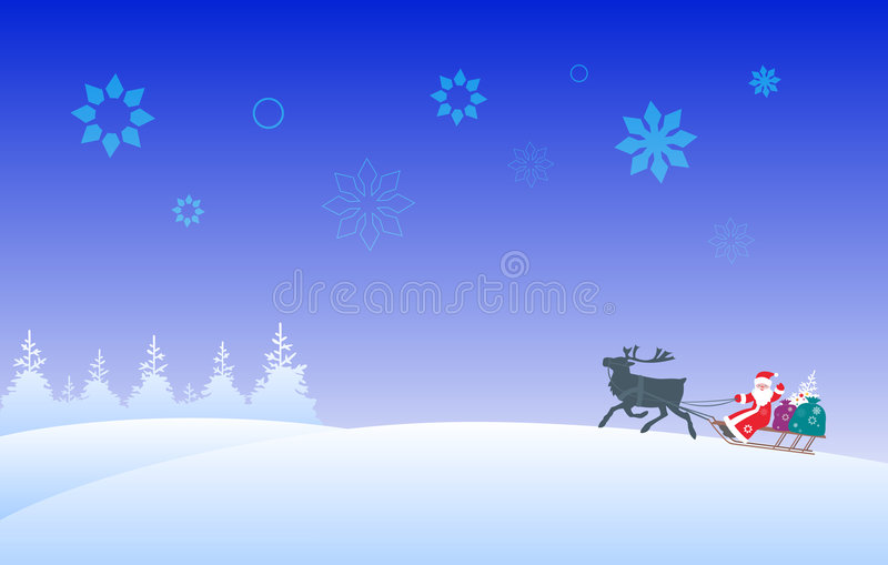 Download Santa Claus and reindeer stock vector. Image of color - 3758861