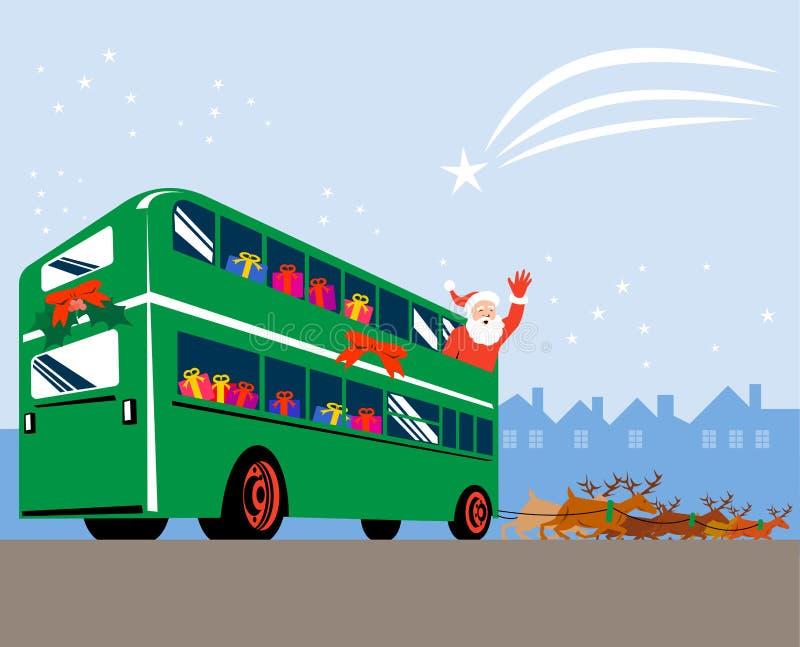 Santa Claus and reindeers royalty free illustration