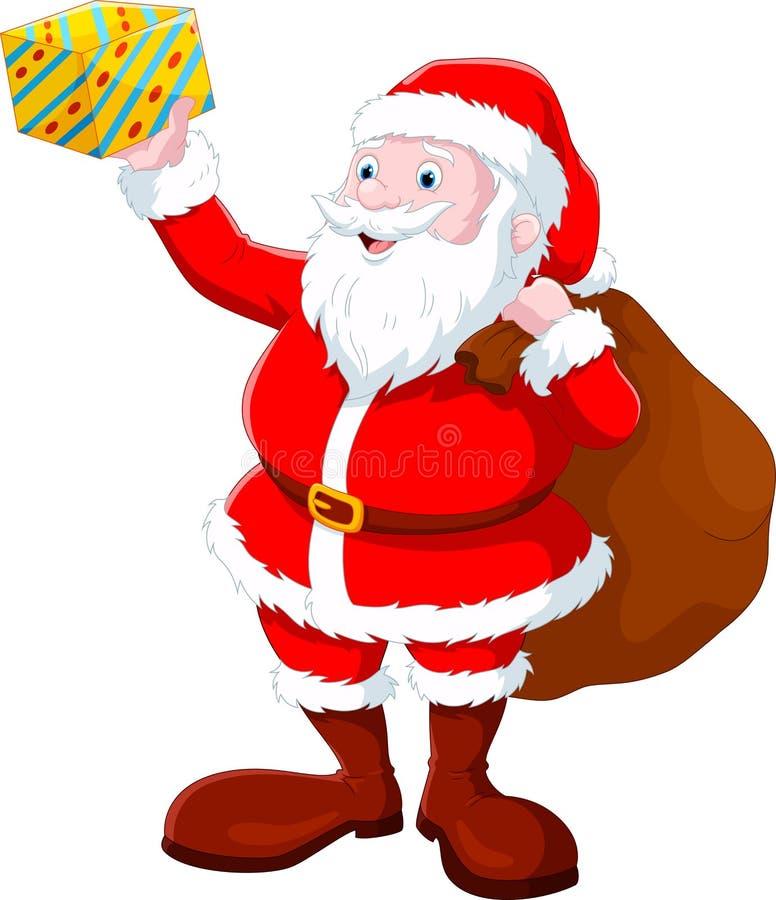 Santa Claus reitet Renpferdeschlitten auf Weihnachten vektor abbildung
