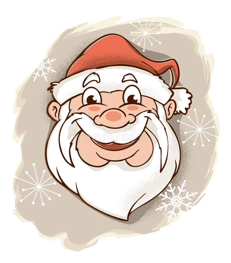 Retro Santa Claus Looking Jolly royalty free stock photography