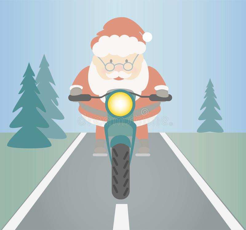 Santa Claus ridning stock illustrationer