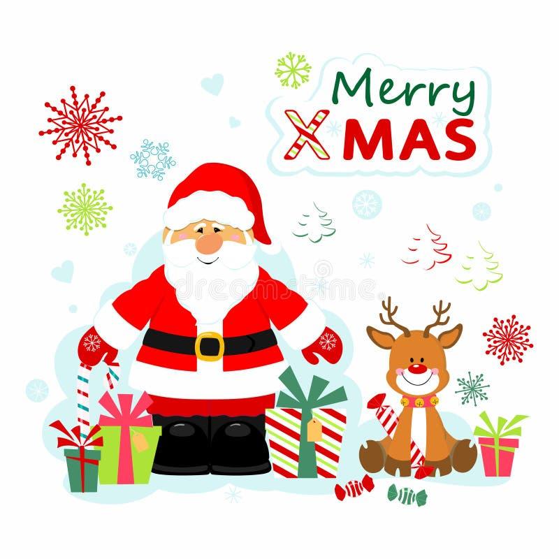 santa Claus Rudolf απεικόνιση αποθεμάτων