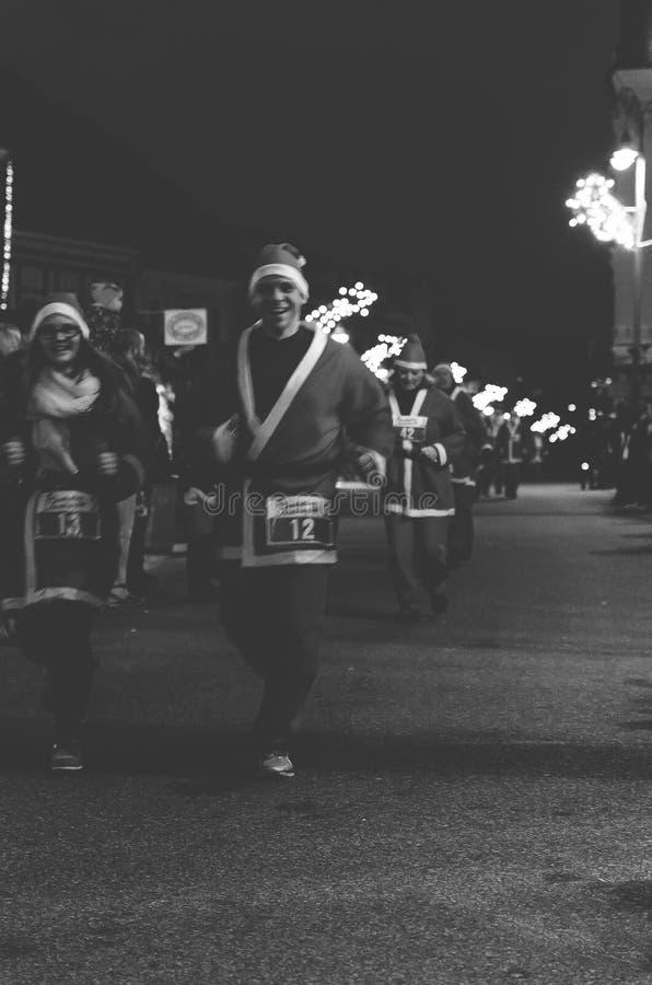 Santa Claus run stock photography