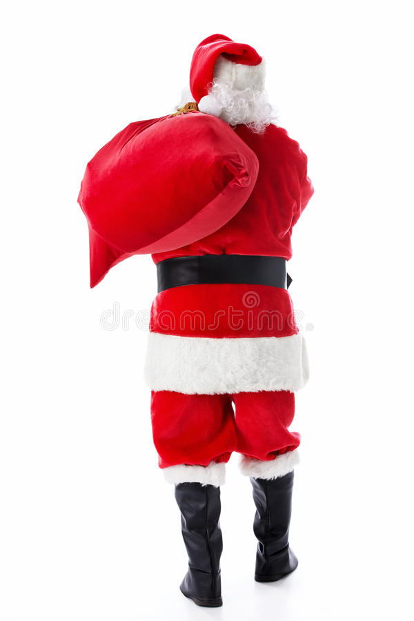 Santa Claus with a sack stock photo