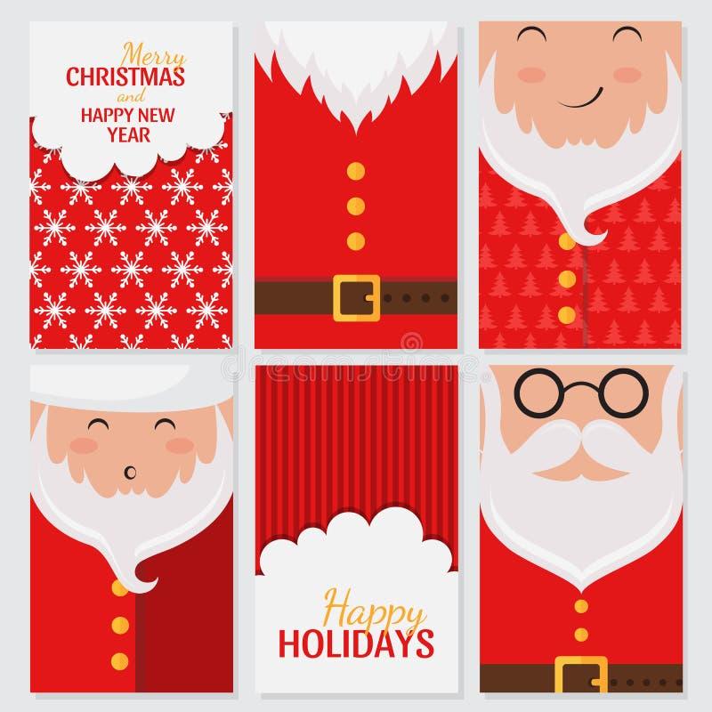Santa Claus samling vektor illustrationer