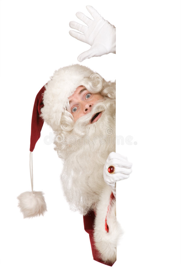 Santa claus saying hello stock photos