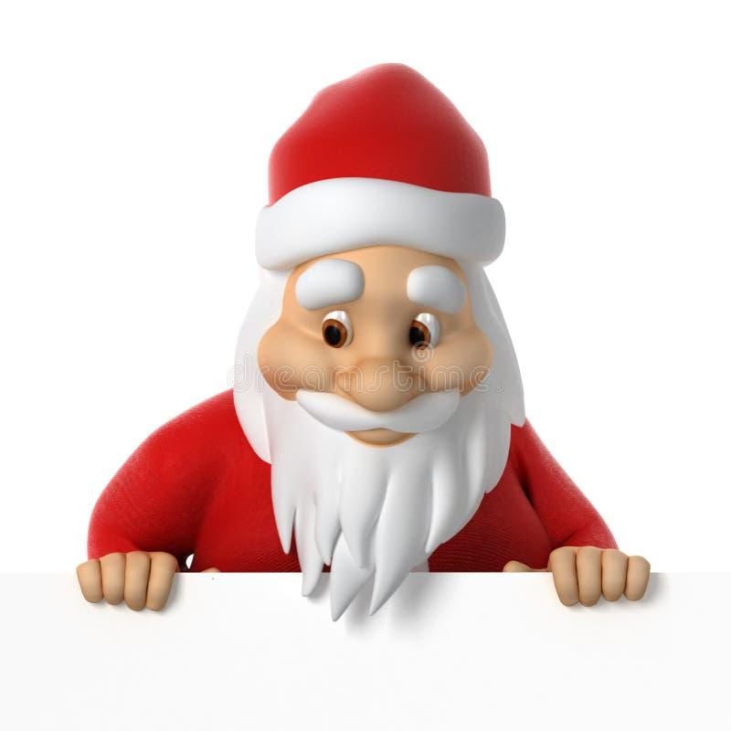 Santa Claus schaut unten stock abbildung