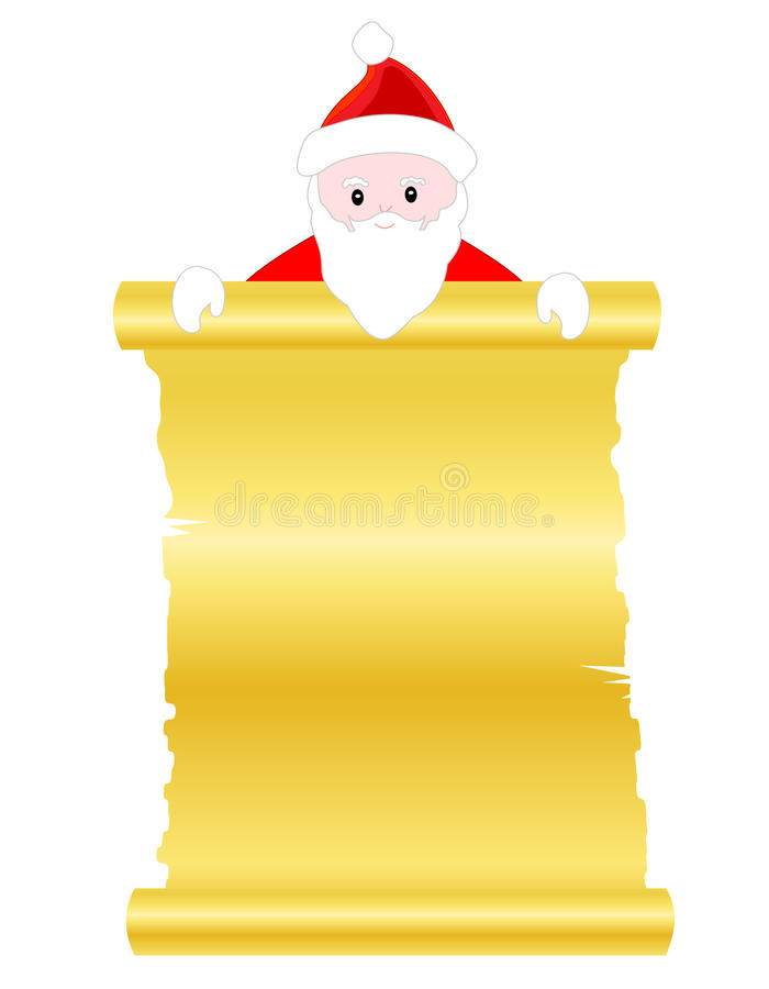 Download Santa claus scroll paper stock vector. Image of costumes - 16718452