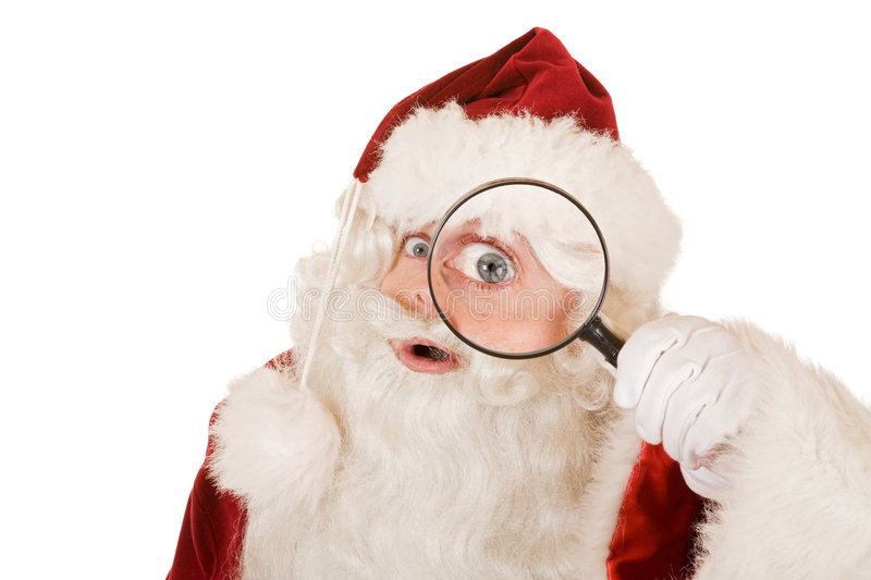 Download Santa claus searching stock image. Image of looking, hand - 3310987
