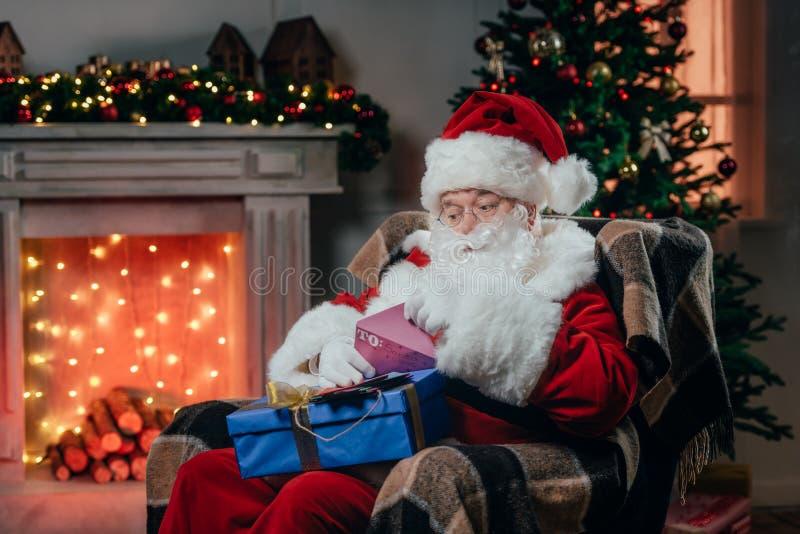 Santa Claus sektor prezent obraz stock
