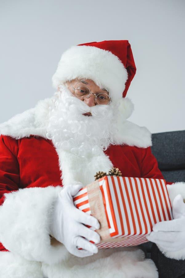 Santa Claus sektor prezent obrazy royalty free