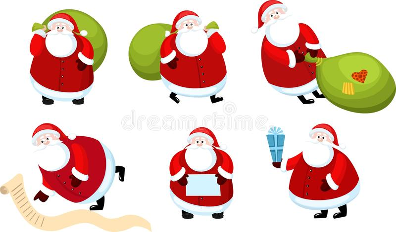 Download Santa claus set stock vector. Image of vector, christmas - 21841998