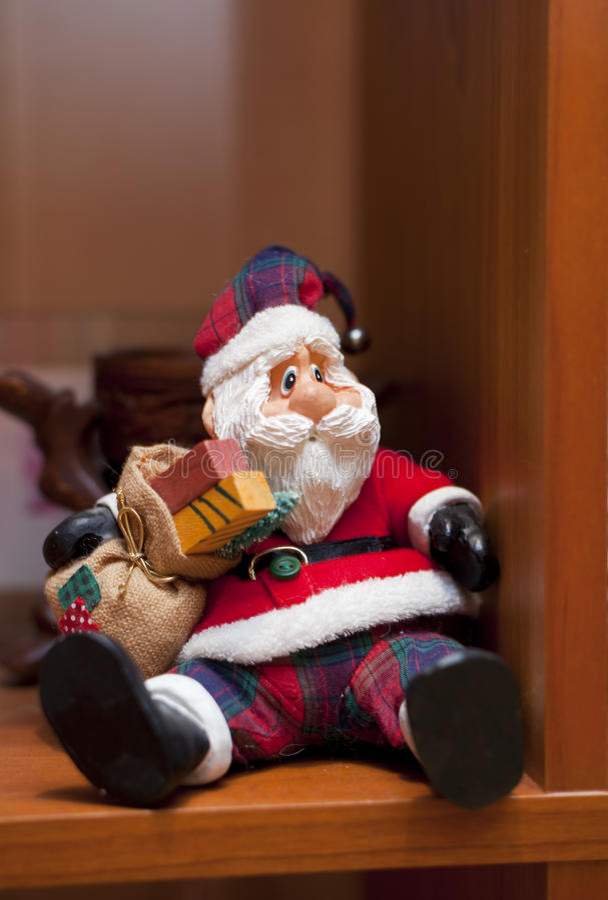 Santa Claus On The Shelf Stock Photos