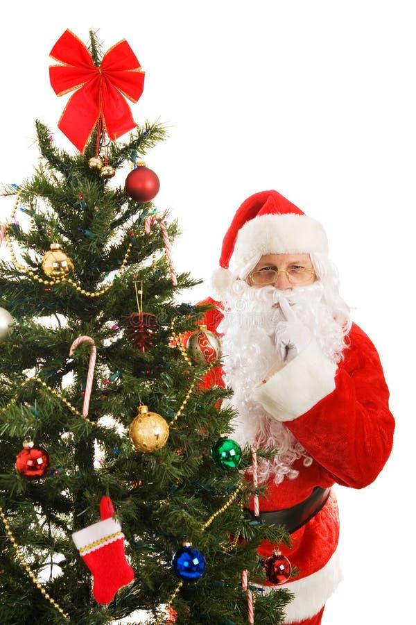 Santa Claus Shhhhhh royalty free stock images