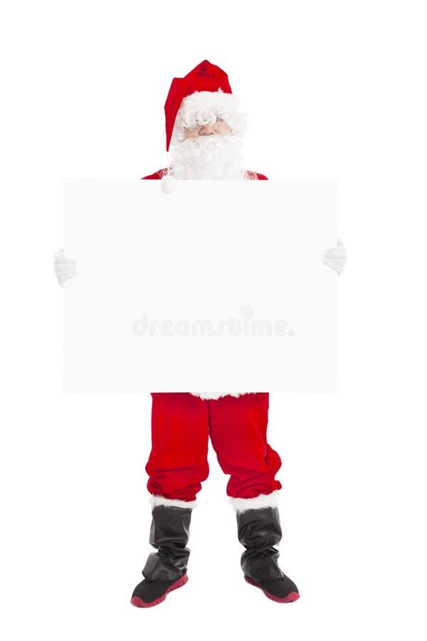 Santa Claus showing blank banner. Happy Santa Claus showing blank banner stock images