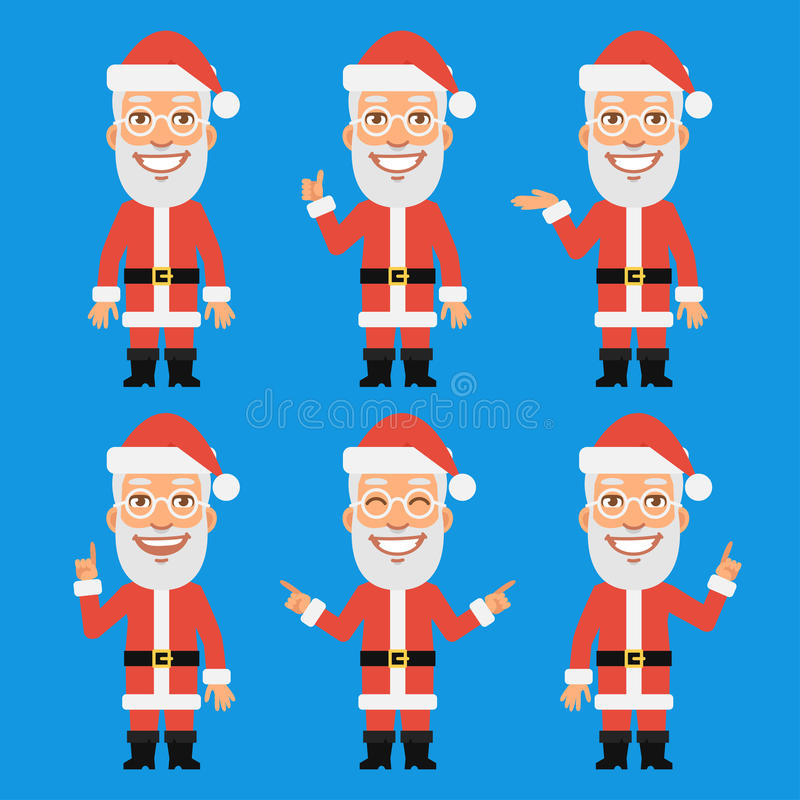 Santa Claus Shows en wijst op stock illustratie