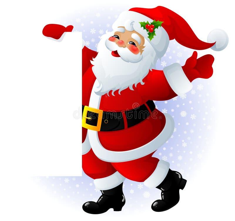 Santa Claus sign stock illustration