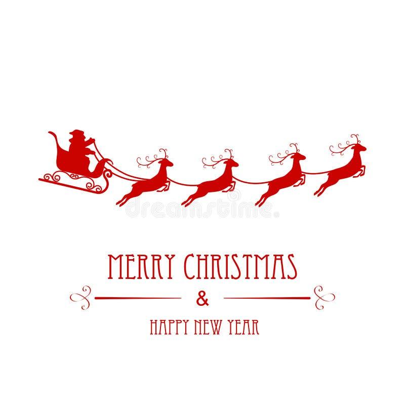 Santa Claus Silhouette ilustración del vector