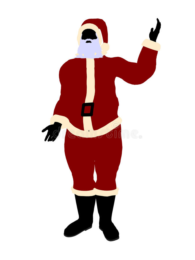 Download Santa Claus Silhouette Art Illustration Royalty Free Stock Photos - Image: 15165968