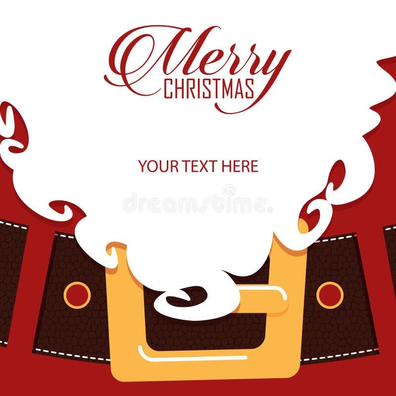Santa Claus skäggcloseup greeting lyckligt nytt år för 2007 kort royaltyfri illustrationer