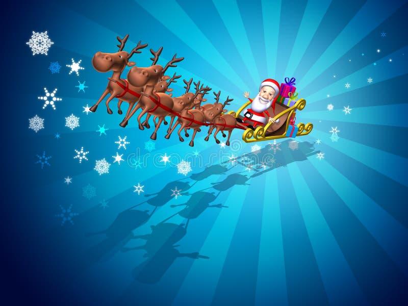 Santa claus sledge royalty ilustracja