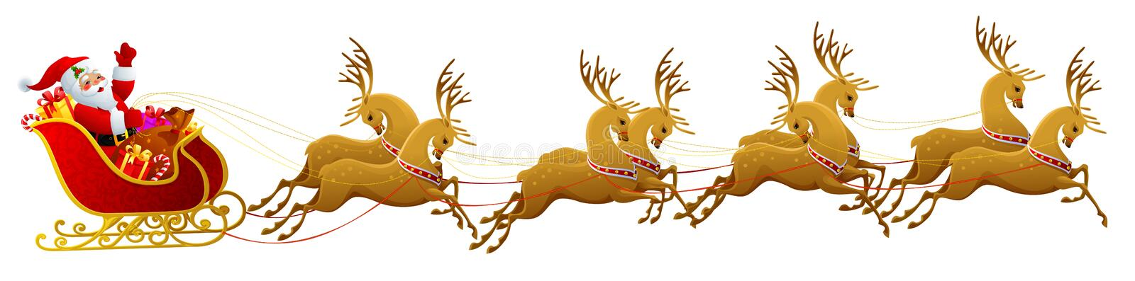 Download Santa Claus sleigh stock illustration. Image of christmas - 6720075