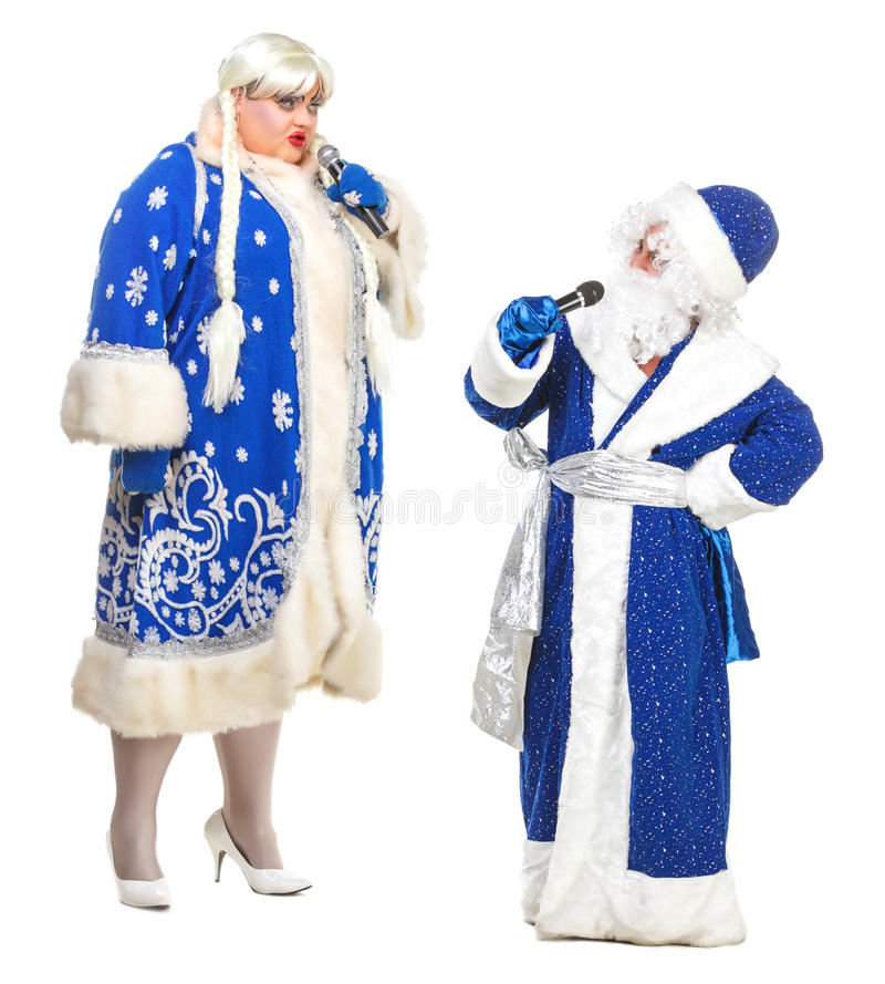 Download Santa Claus And Snow Maiden Stock Image - Image: 26947853