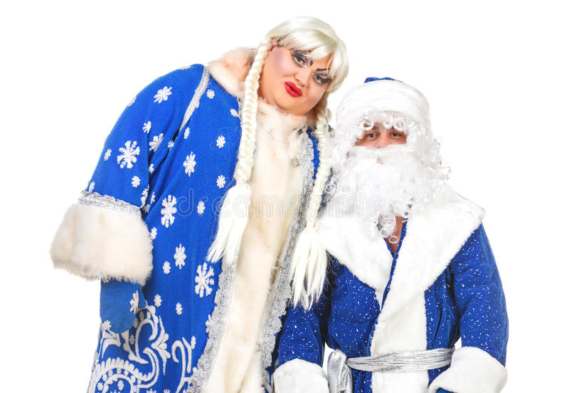 Download Santa Claus And Snow Maiden Stock Image - Image: 26947861