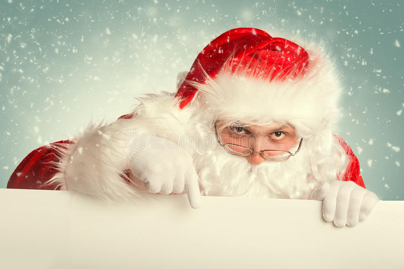 Download Santa Claus in a snow stock image. Image of holding, festive - 35787395