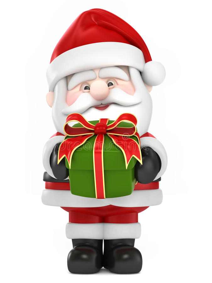 Santa Claus som ger gif royaltyfri illustrationer