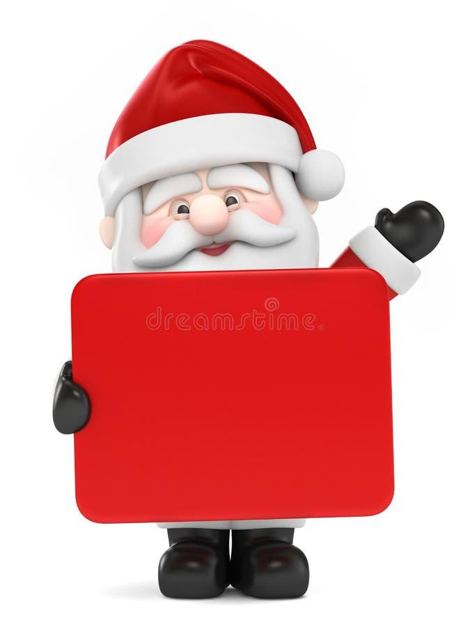 Santa Claus som rymmer ett bräde vektor illustrationer