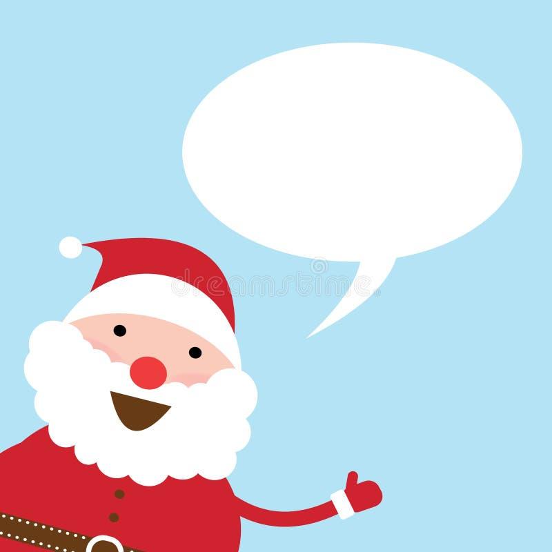 Santa Claus som talar med bubblaanförandevektorn vektor illustrationer