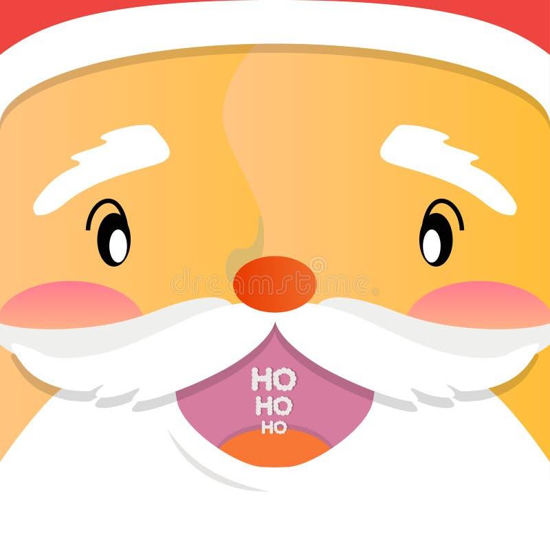 Santa Claus sonriente dice ho-ho-ho imagen de archivo