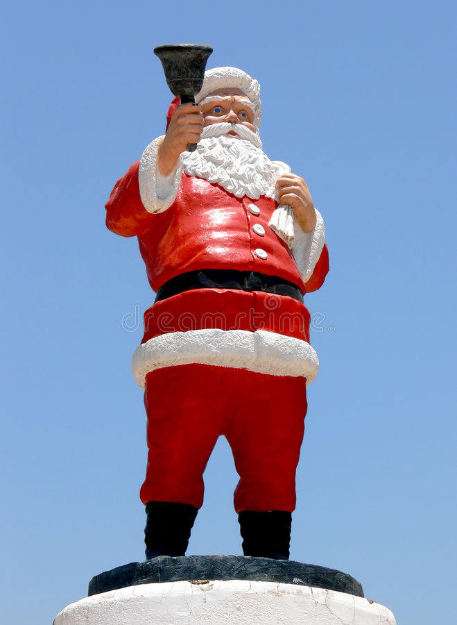 Santa Claus Statue stock photography