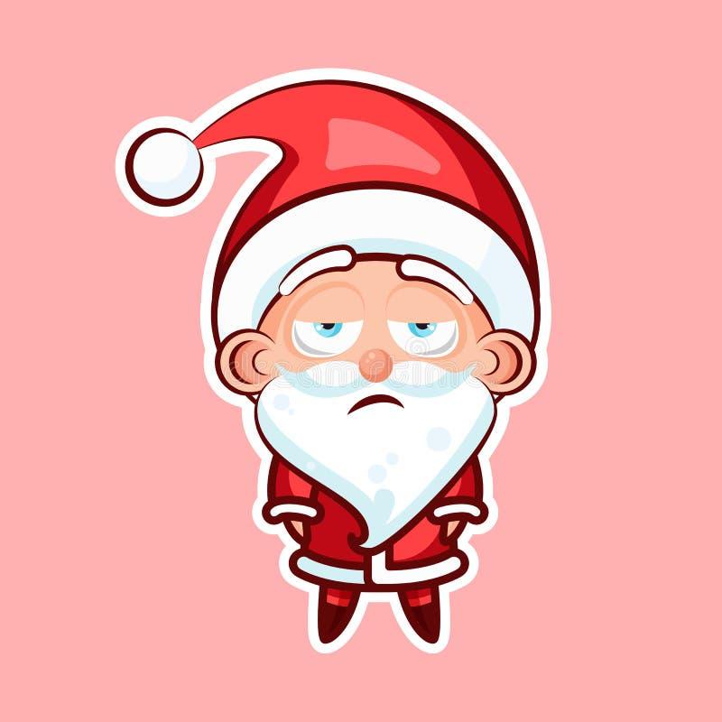 Santa Claus Sticker-emoji emoticon royalty-vrije illustratie