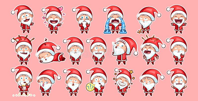 Santa Claus Sticker emoji emoticon vector illustration