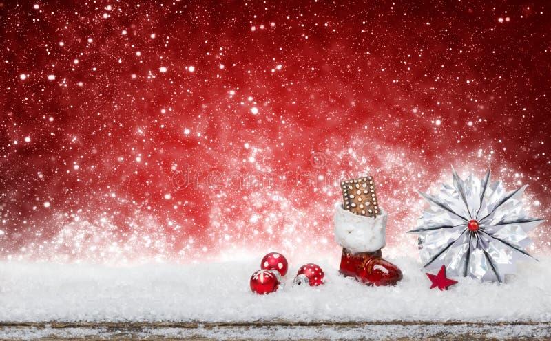 Santa Claus-Stiefel und -stern stockbilder