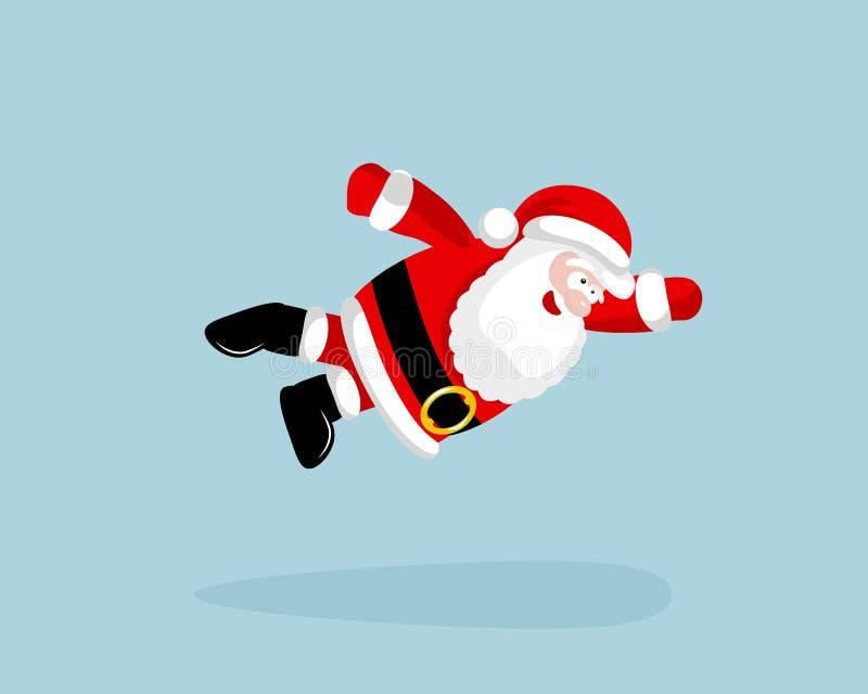 Santa Claus super está voando ilustração royalty free
